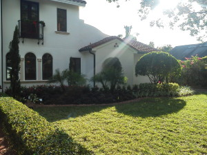 Front Right after photo of a landscaping redesign in Winter Park
